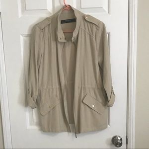 Zara tan safari jacket